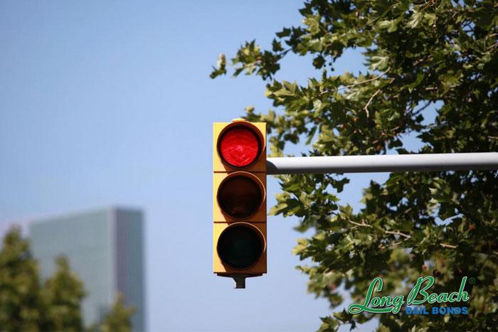 long beach bail bonds broken traffic light